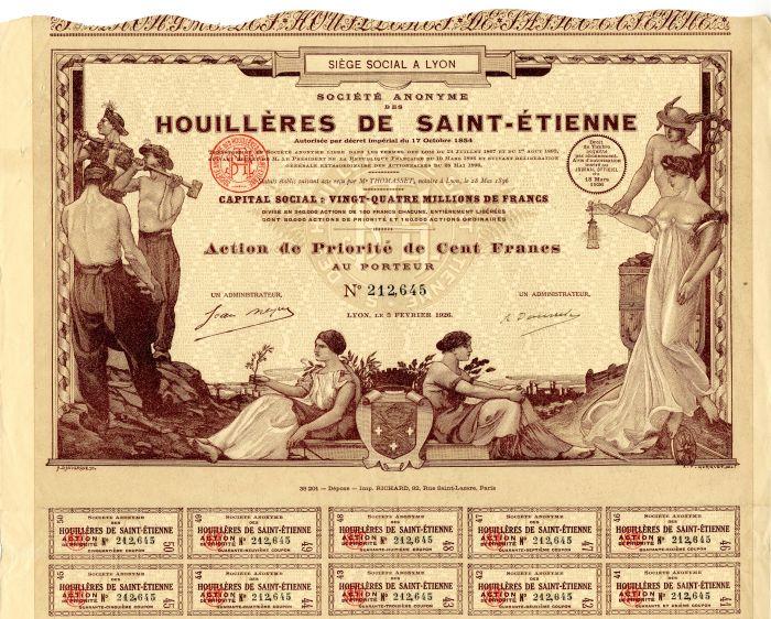 Societe Anonyme Des Houilleres De Saint-Etienne