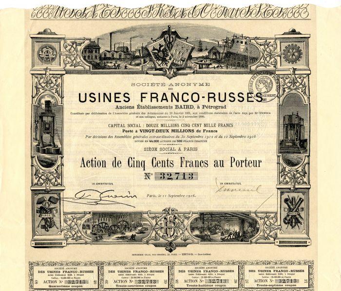 Societe Anonyme Des Usines Franco-Russes