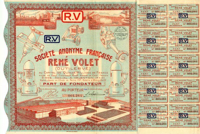 Societe Anonyme Francaise Rene Volet