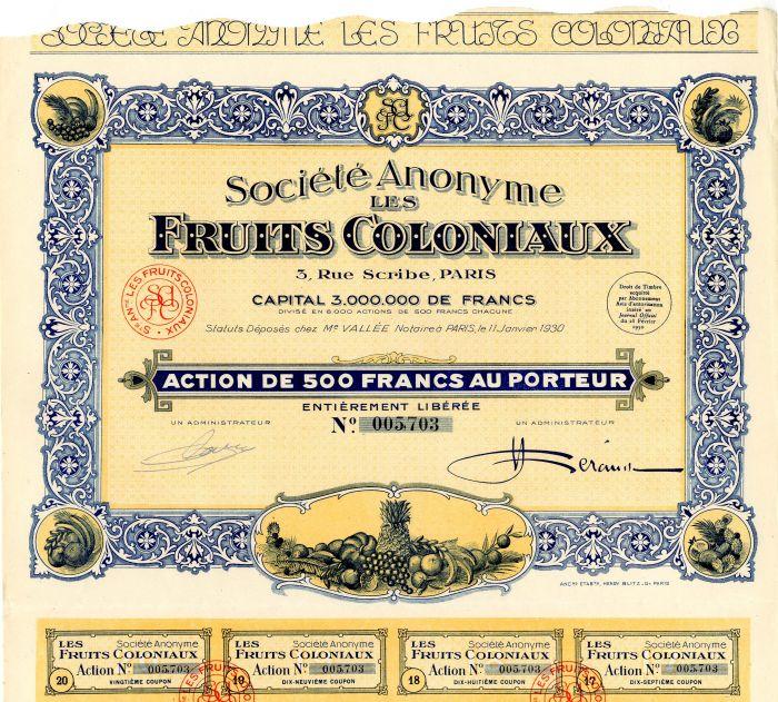 Societe Anonyme Les Fruits Coloniaux
