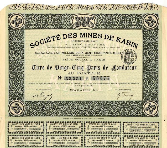 Societe Des Mines De Kabin