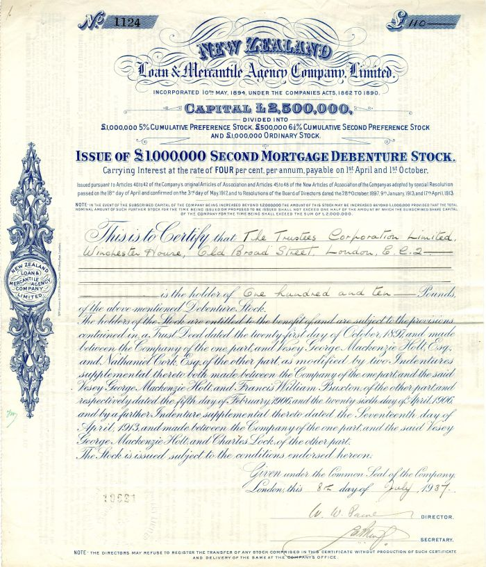 New Zealand Loan and Mercantile Agency Company, Limited