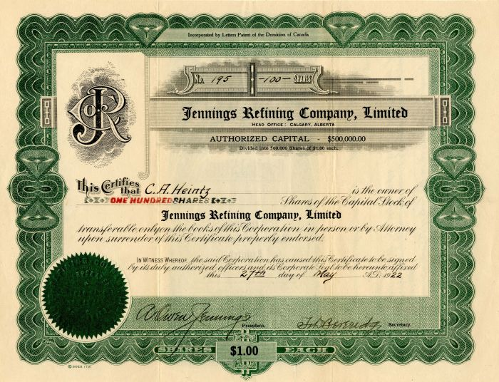 Jennings Refining Company, Limited