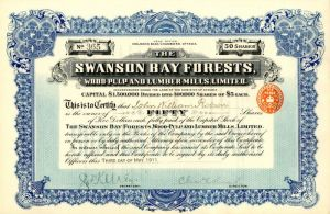 Swanson Bay Forests, Wood-Pulp and Lumber Mills, Limited