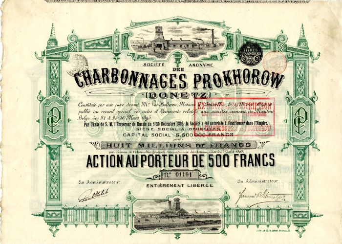 Societe Anonyme des Charbonnages Prokhorow