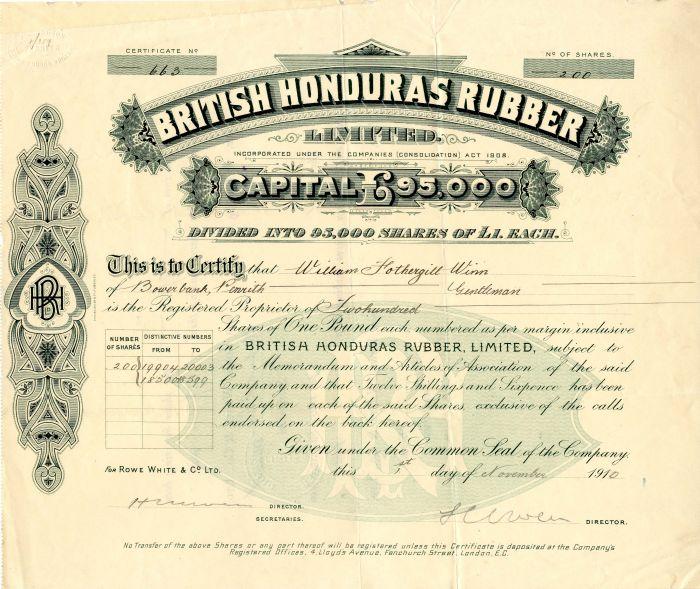 British Honduras Rubber Limited