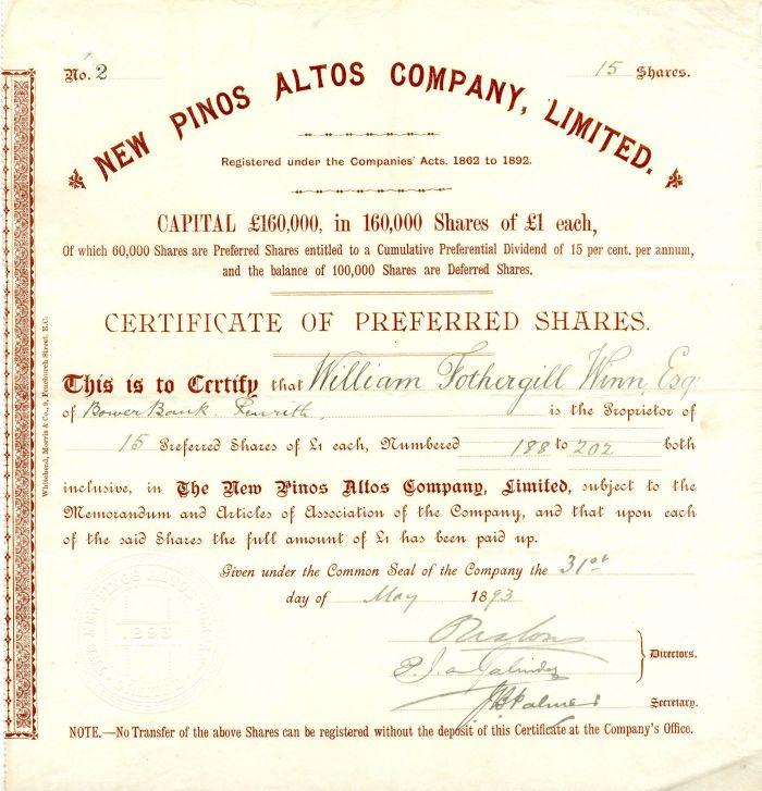 New Pinos Altos Company, Limited