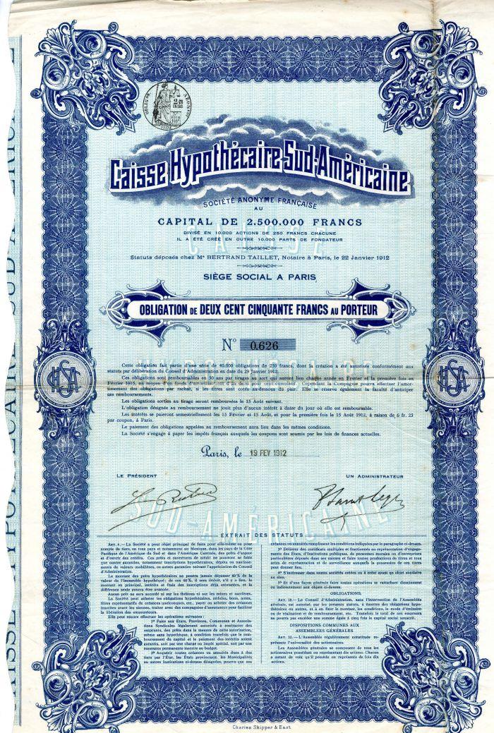 Caisse Hypothecaire Sud-Americaine