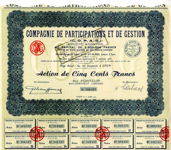 Compagnie de Participations Et De Gestion