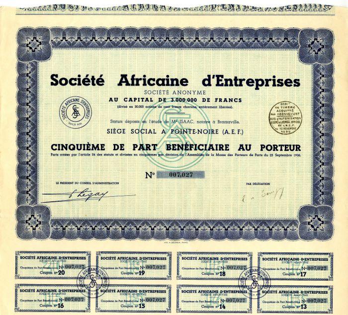 Societe Africaine d'Entreprises