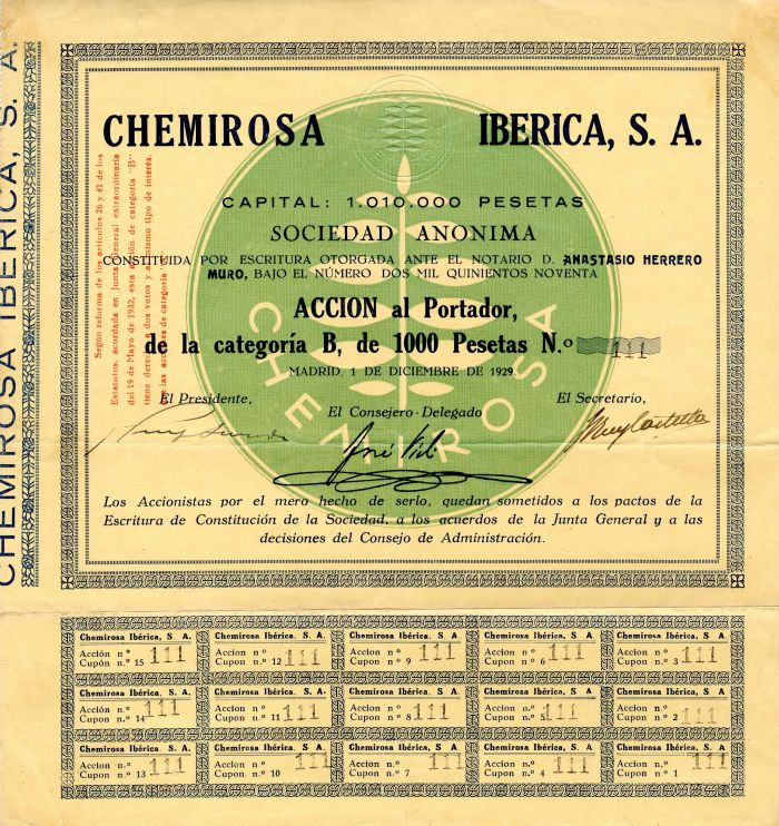 Chemirosa Iberica, S.A.