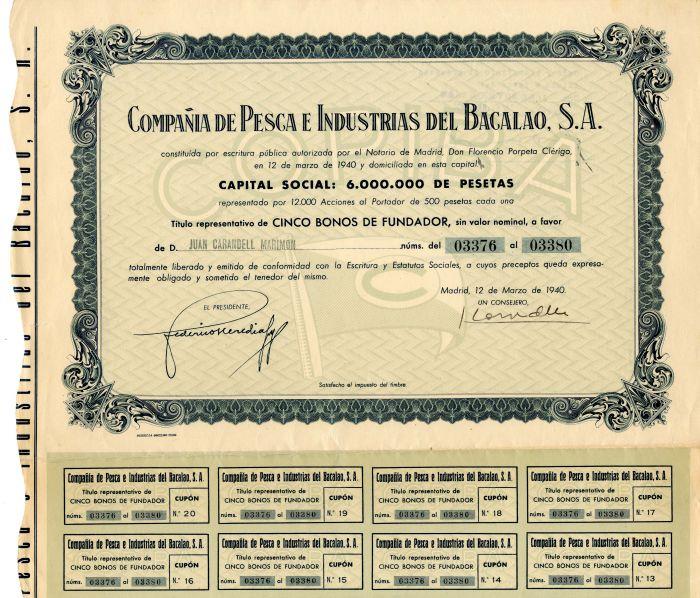 Compania de Pesca e Industrias del Bacalao, S.A.