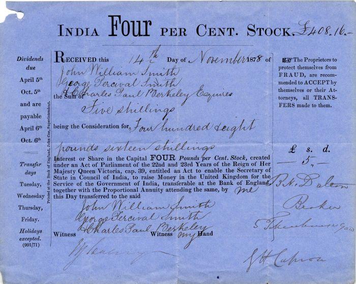 India Four Per Cent. Stock