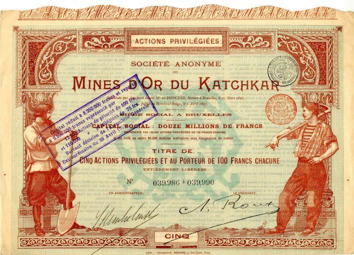 Societe Anonyme Des Mines D'Or Du Katchkar