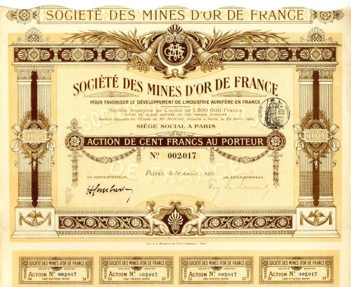Societe Des Mines D'Or De France