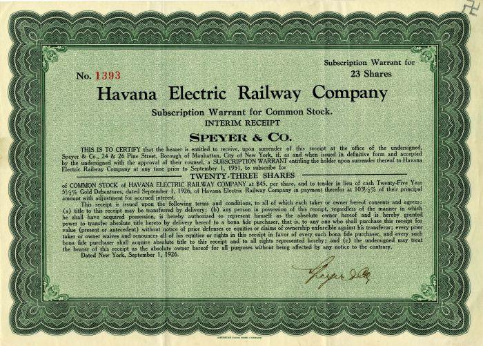 Havana Electric Railway Company