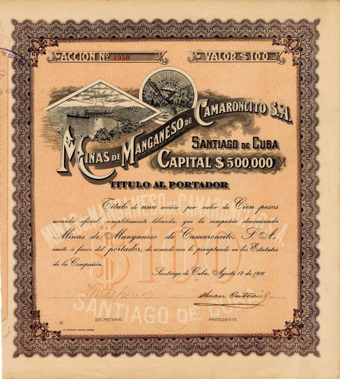Minas De Manganeso De Camaroncito S.A.