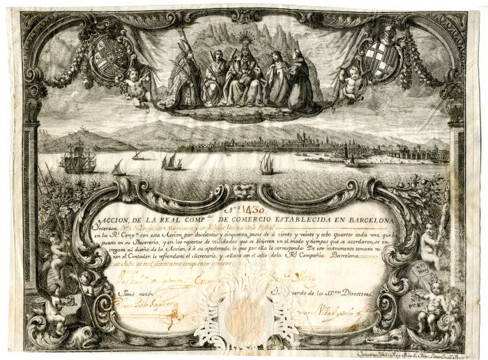 Spanish Shipping Share Certificate of Barcelona - Stock Certificate