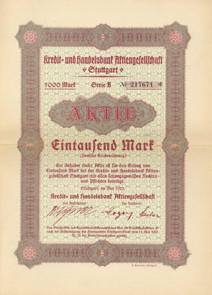 Germany - 1000 Mark Stock
