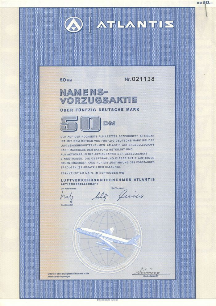 Atlantis - Stock Certificate