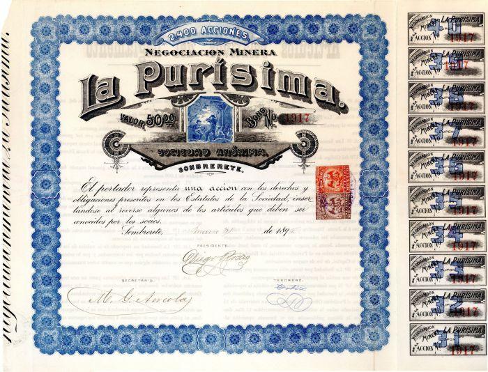 La Purisima - Stock Certificate