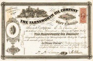 Farnsworth Oil Company - Stock Certificate