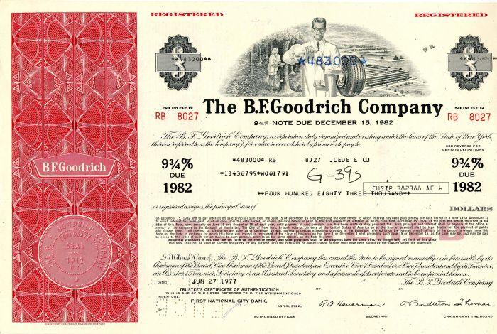 B. F. Goodrich Company - High Denomination