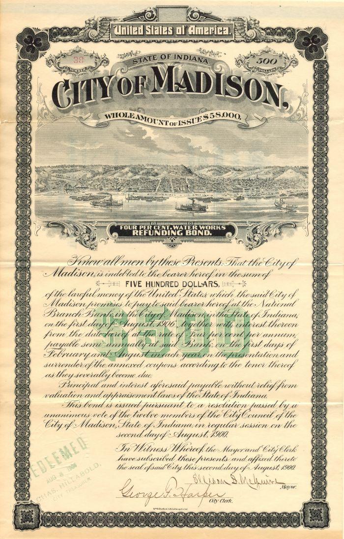 City of Madison - $500 Bond