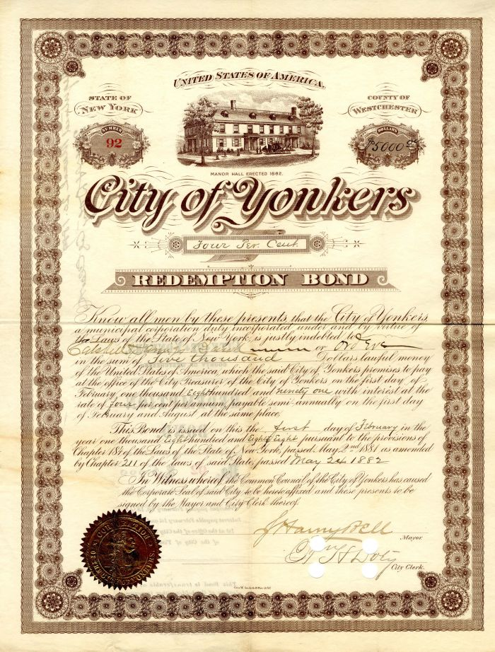 City of Yonkers - $5,000