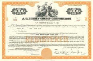J.C. Penney Credit Corporation - $5,000 Bond