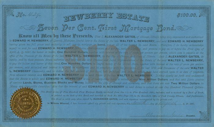 Newberry Estate - $100 Bond