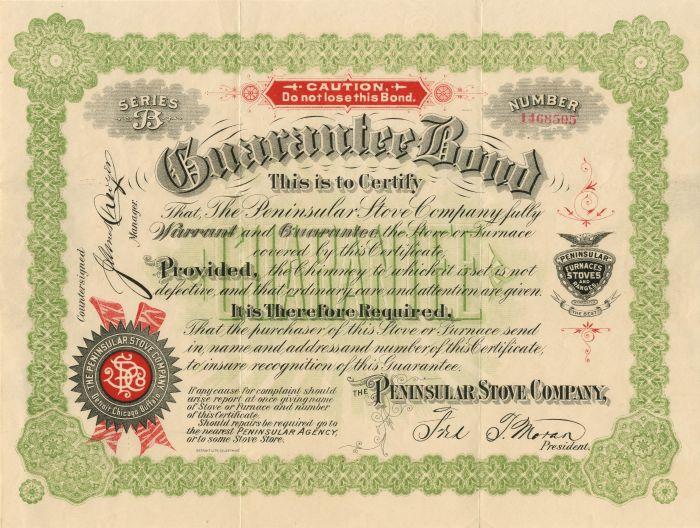 Peninsular Stove Company - Bond
