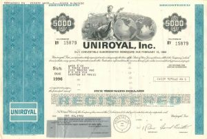 Uniroyal, Inc. - Various Denominations - Bond