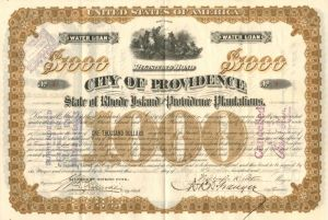 City of Providence - Certificate #1