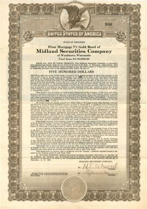 Midland Securities Company - Certificate #1