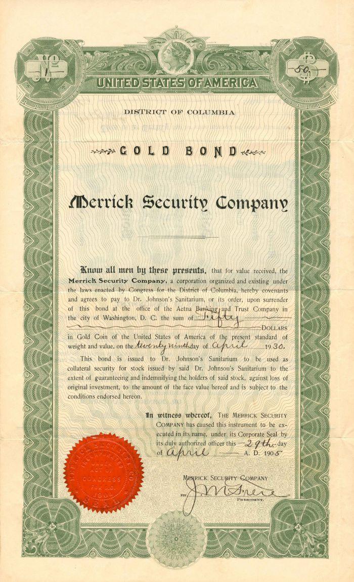 Merrick Security Company - $50 - Bond