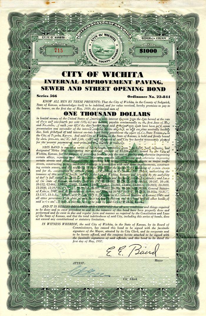City of Wichita - $1,000 - Bond