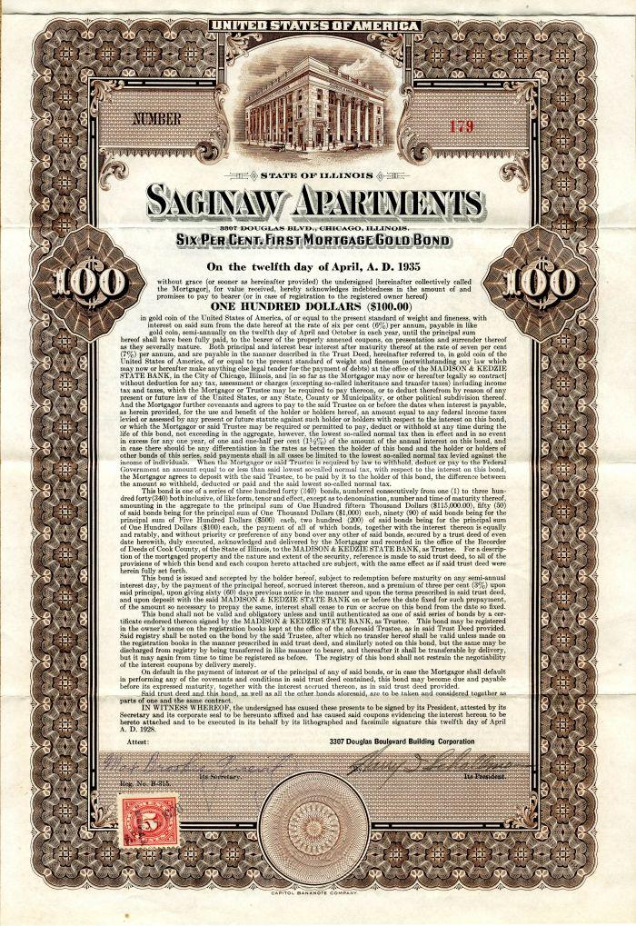 Saginaw Apartments - $100 - Bond