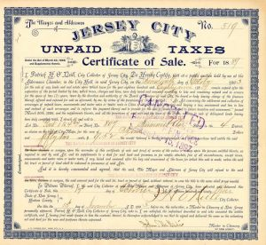 Jersey City Unpaid Taxes