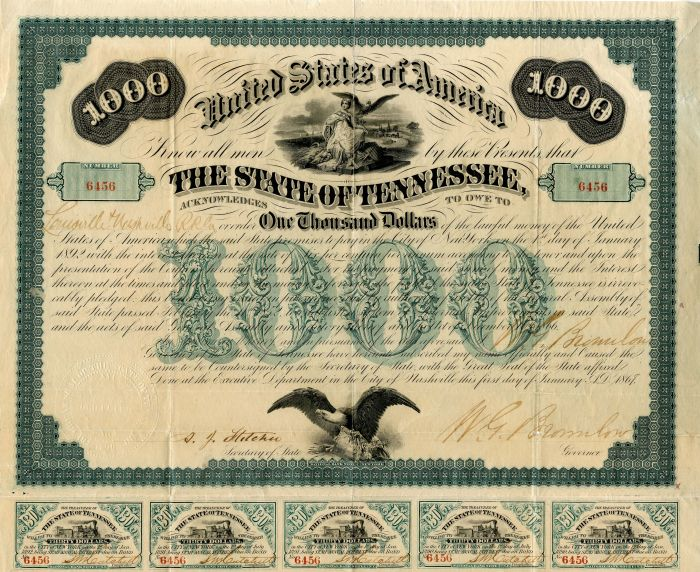 State of Tennessee - $1,000