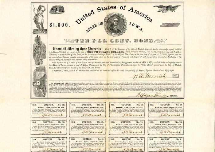State of Iowa - $1,000