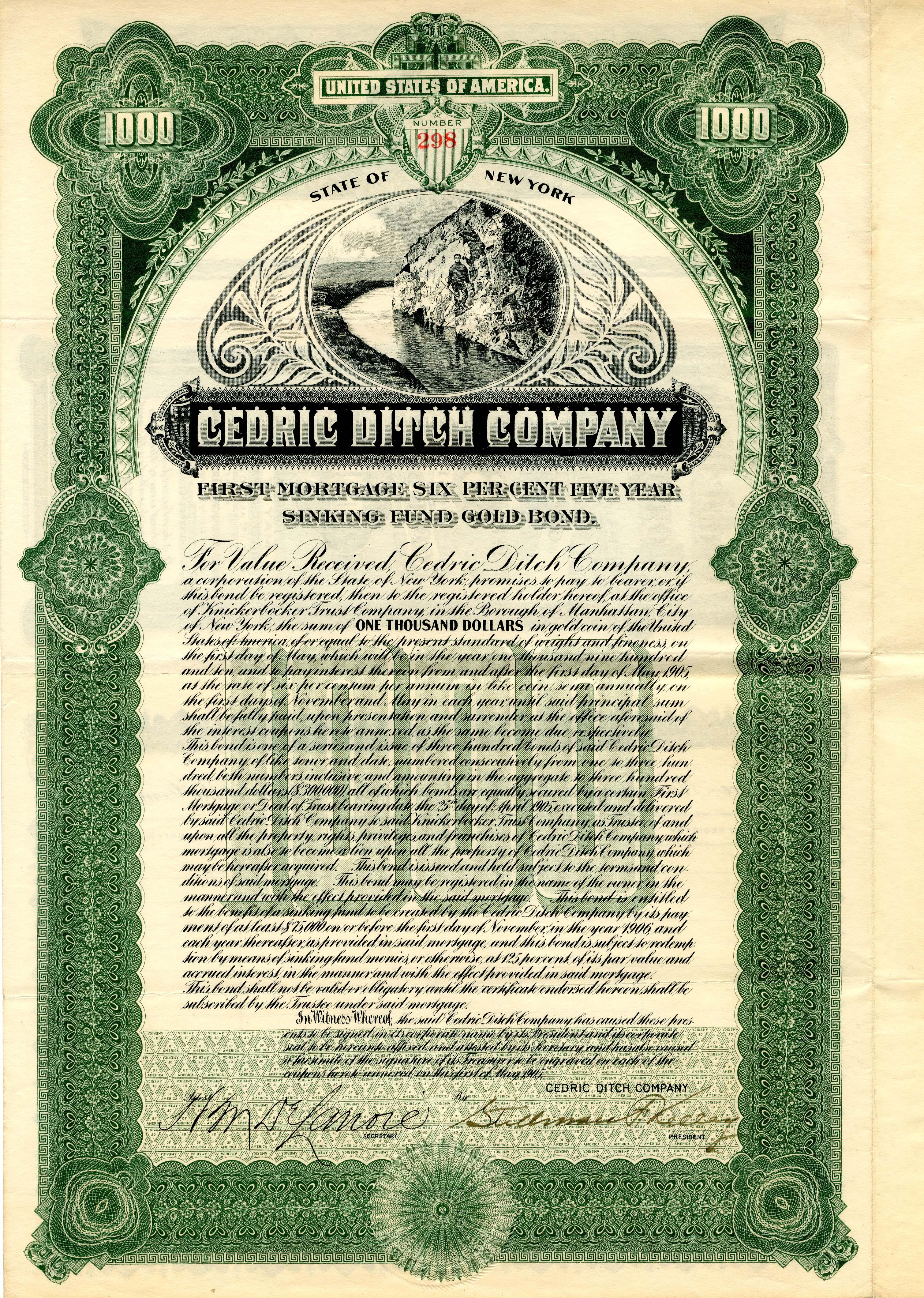 Cedric Ditch Company - $1,000