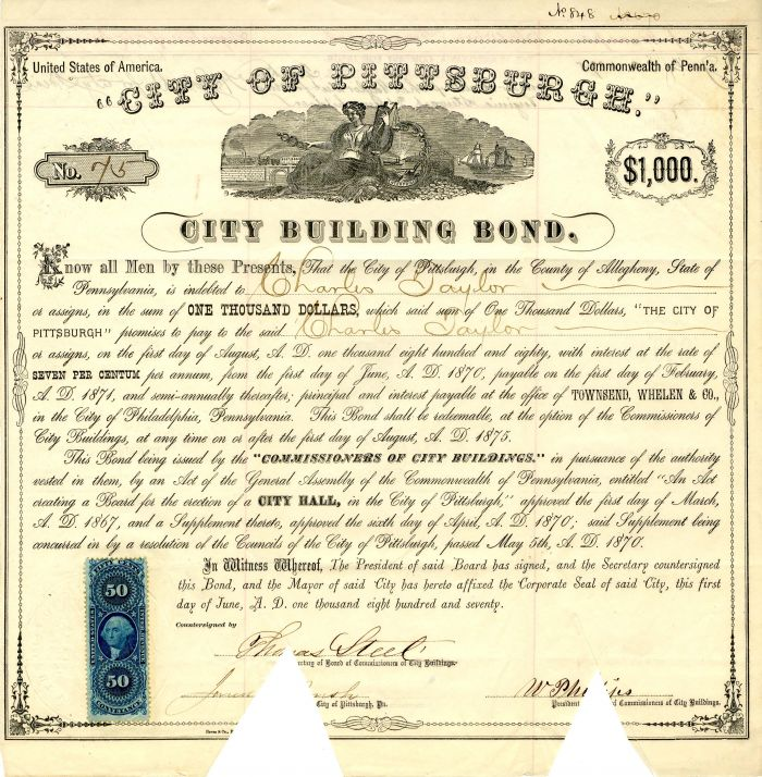 City of Pittsburgh - $1,000