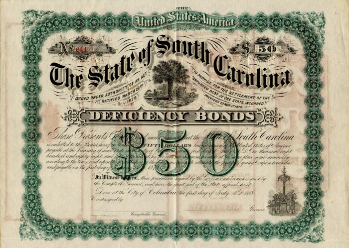 State of South Carolina - $50