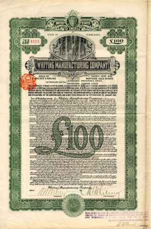 Whiting Manufacturing Company - £100