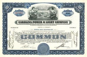Carolina Power and Light Company - Stock Certificate