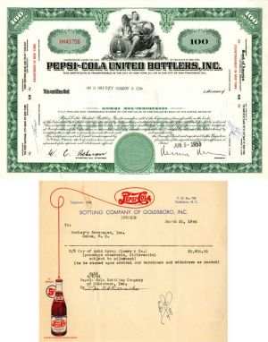 Pepsi-Cola United Bottlers, Inc - Stock Certificate