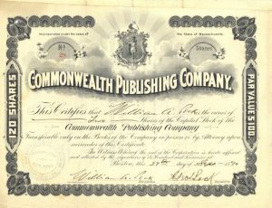 Commonwealth Publishing Company - Stock Certificate