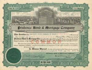 Prudence Bond & Mortgage Company