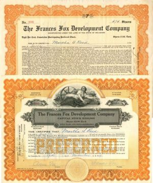 Frances Fox Development Company - The1920 & 1922 Pair